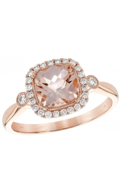 Morganite 3 stone Ring product image
