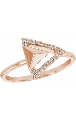 Rose Gold Triangle Diamond Ring  product image