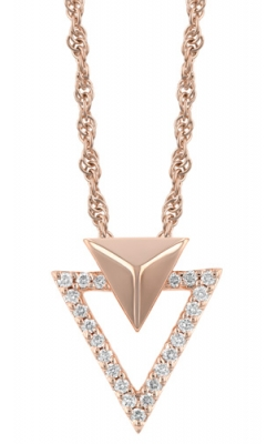 14k Rose Diamond Triangle Pendant  product image