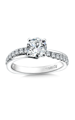 SPIRAL STYLE DIAMOND ENGAGEMENT RING CR161W product image