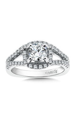 LUXURY COLLECTION ENGAGEMENT RING WITH DIAMOND SIDE STONES CR359W product image