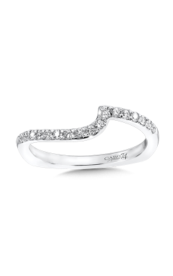 DIAMOND &14K WHITE GOLD WEDDING RING CR516BW product image