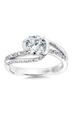 CRISS CROSS DIAMOND ENGAGEMENT RING CR516W product image
